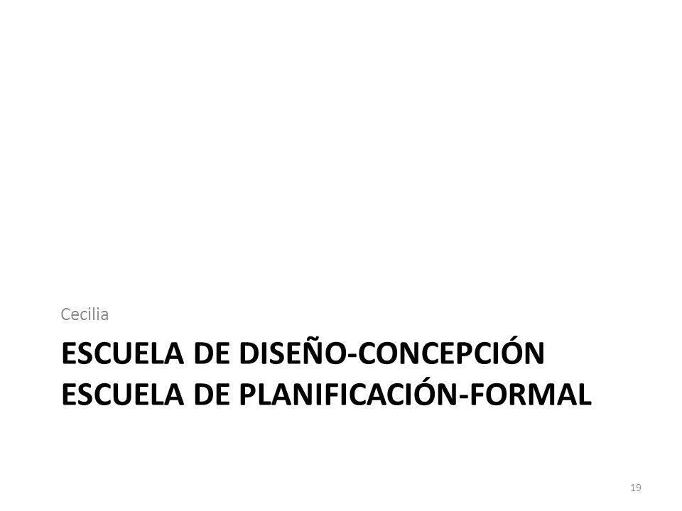 Escuela de diseño-concepción escuela de planificación-formal