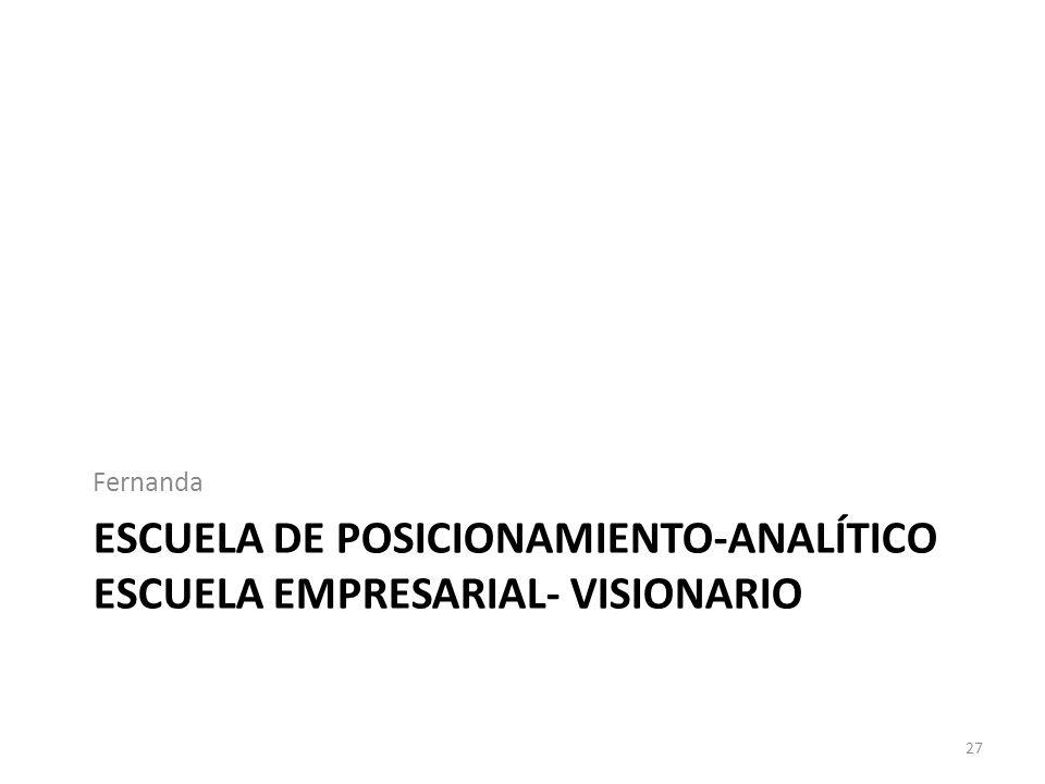 Escuela de posicionamiento-analÍtico escuela empresarial- visionario