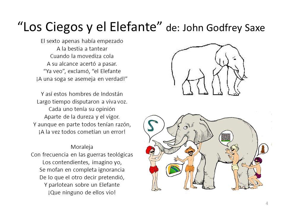 Los Ciegos y el Elefante de: John Godfrey Saxe