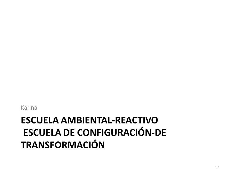 Escuela ambiental-reactivo escuela de configuración-de transformación