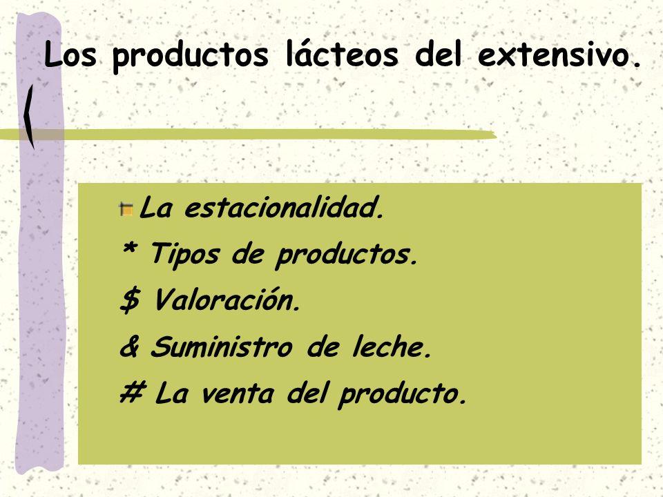 Los productos lácteos del extensivo.