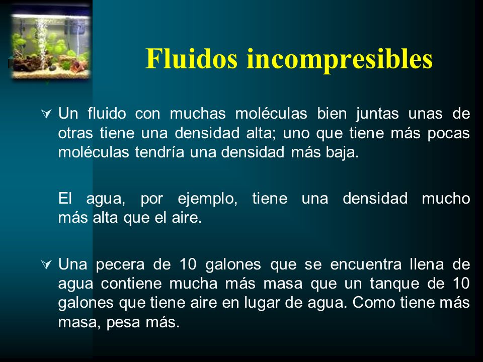 Fluidos incompresibles