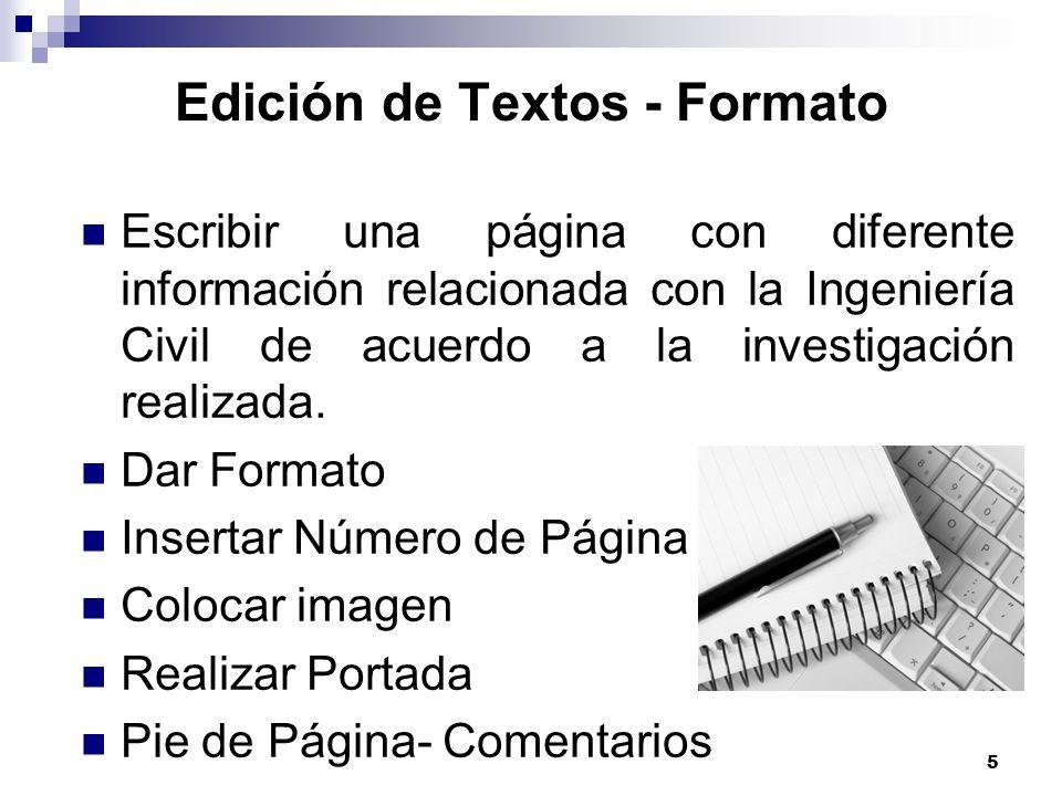 Edición de Textos - Formato