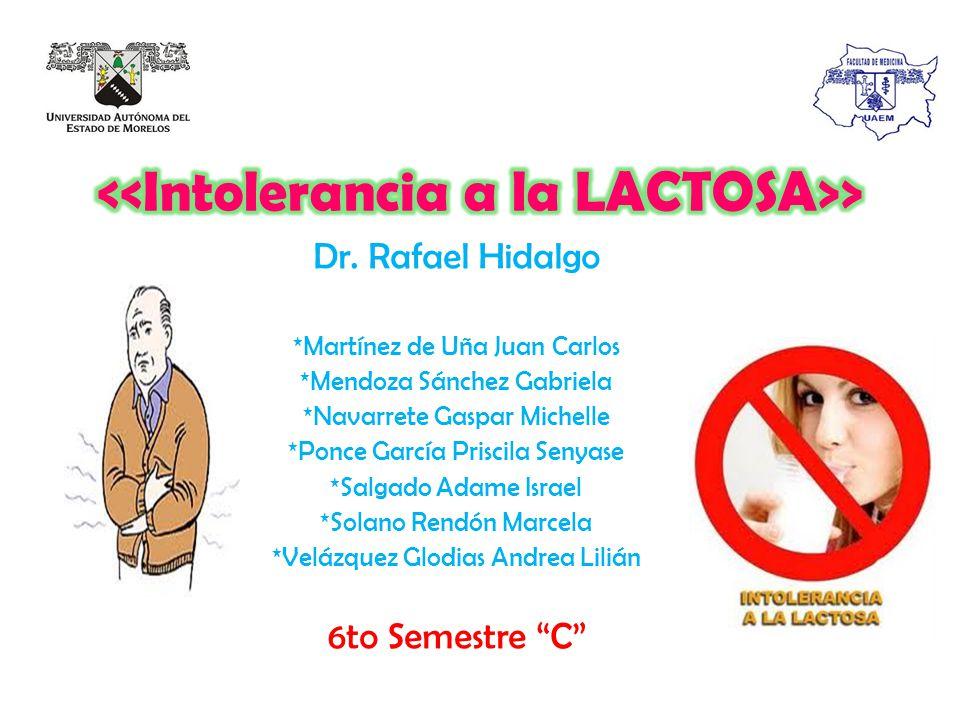 <<Intolerancia a la LACTOSA>>