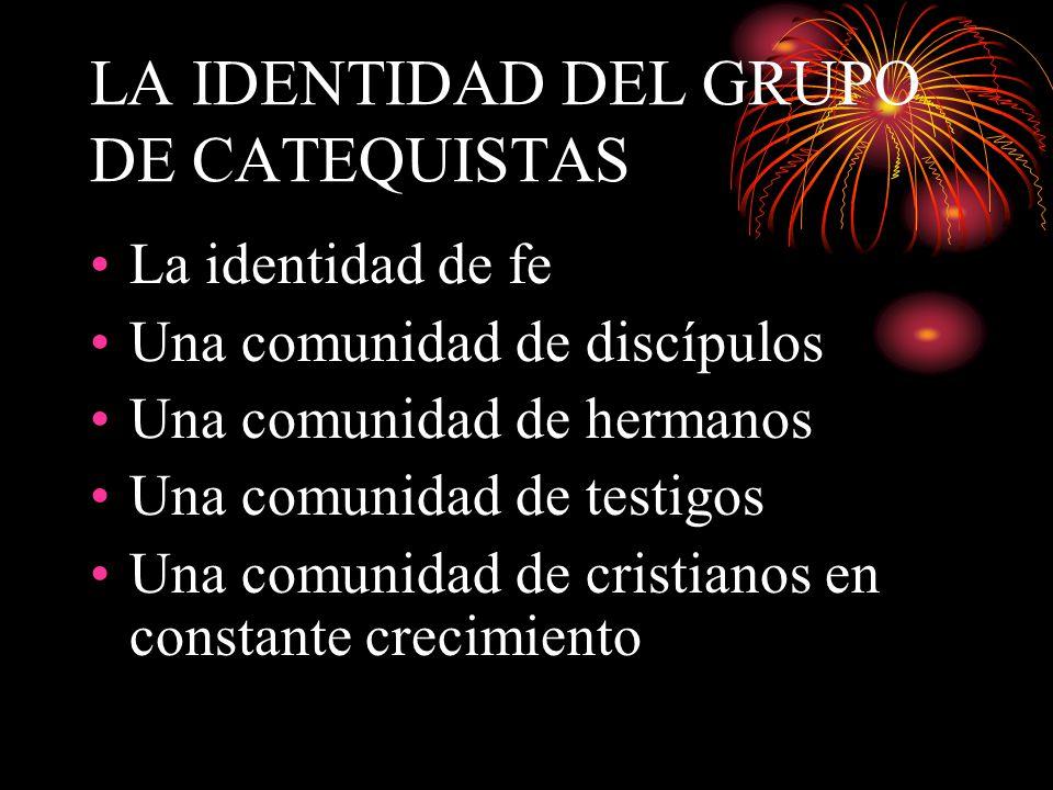 LA IDENTIDAD DEL GRUPO DE CATEQUISTAS