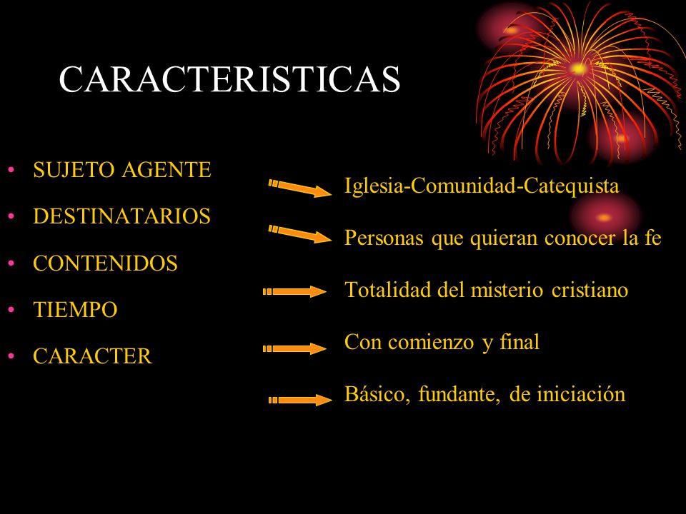 CARACTERISTICAS SUJETO AGENTE Iglesia-Comunidad-Catequista