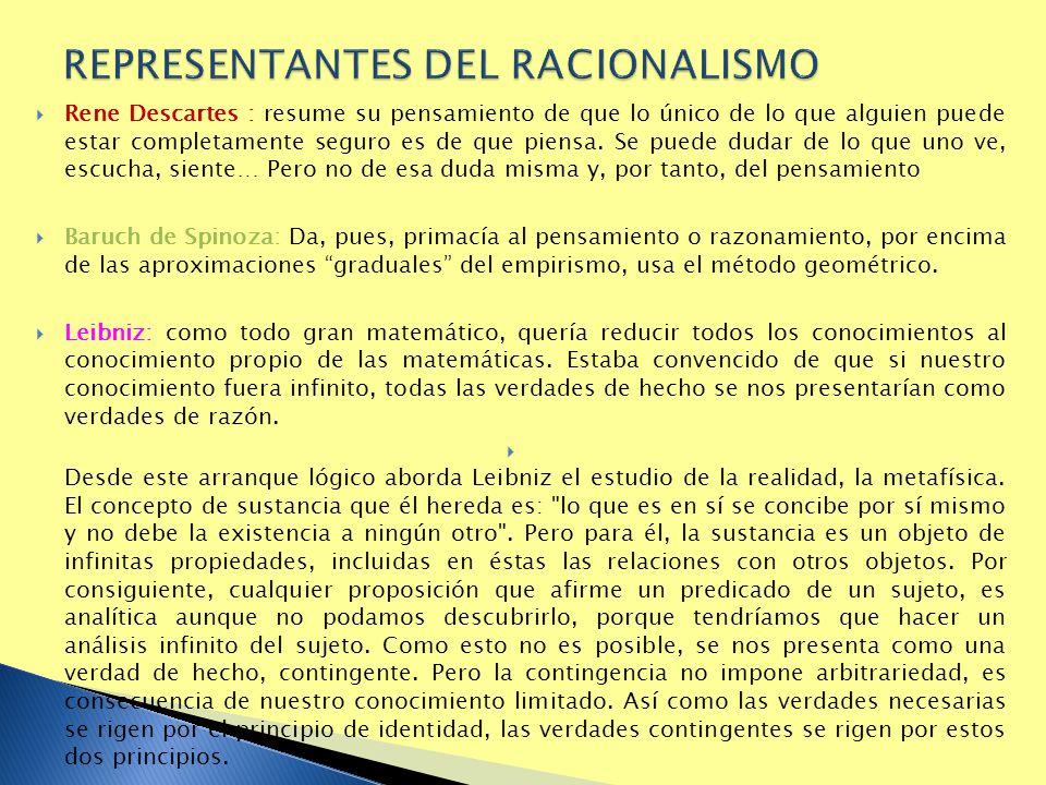 REPRESENTANTES DEL RACIONALISMO