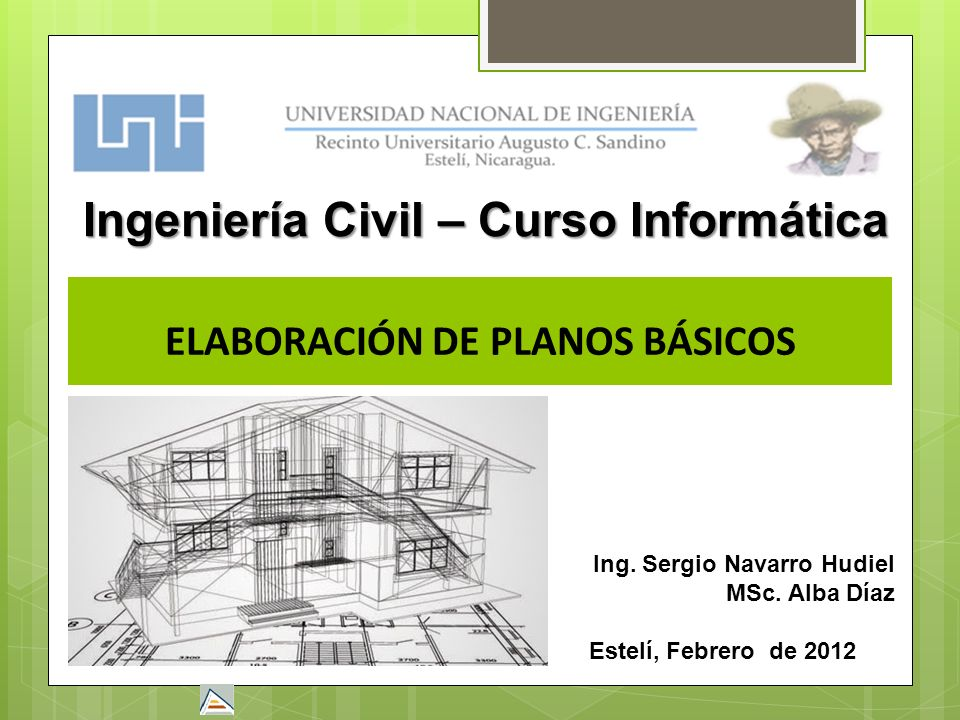 Ingenier a civil curso inform tica elaboraci n de planos for Planos ingenieria civil
