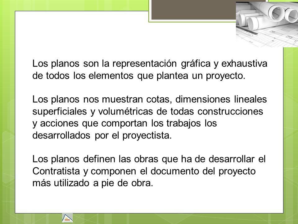 Los planos son la representación gráfica y exhaustiva de todos los elementos que plantea un proyecto.