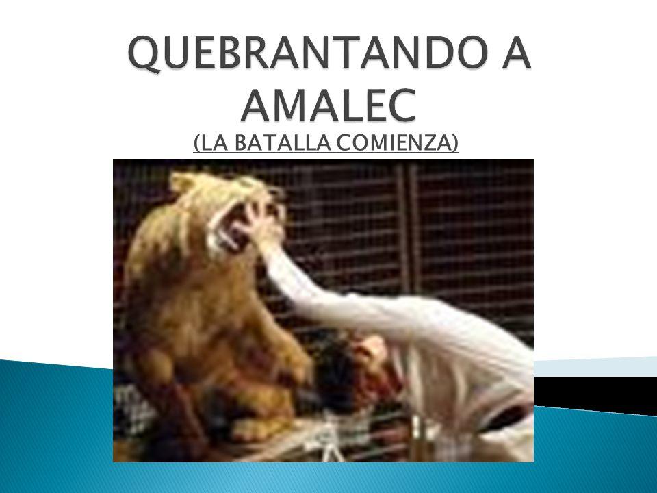 QUEBRANTANDO A AMALEC (LA BATALLA COMIENZA)