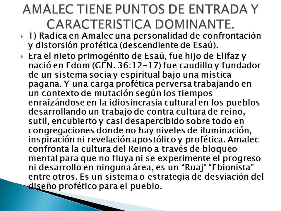 AMALEC TIENE PUNTOS DE ENTRADA Y CARACTERISTICA DOMINANTE.