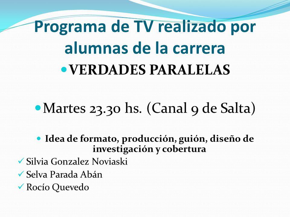 Programa de TV realizado por alumnas de la carrera