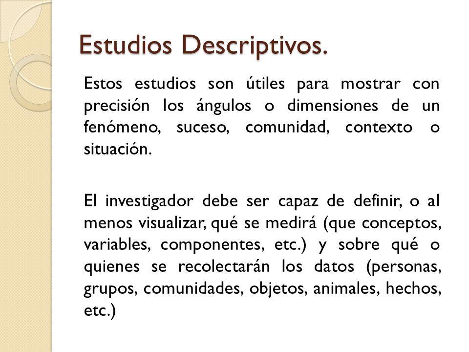 Estudios Descriptivos.