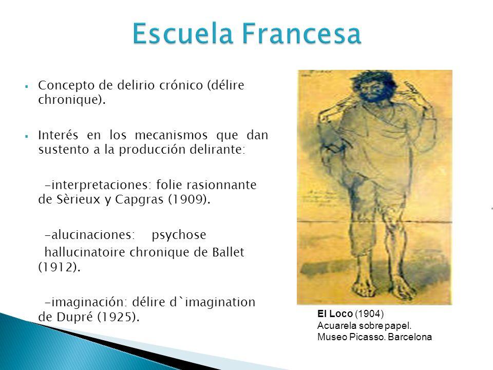Escuela Francesa Concepto de delirio crónico (délire chronique).
