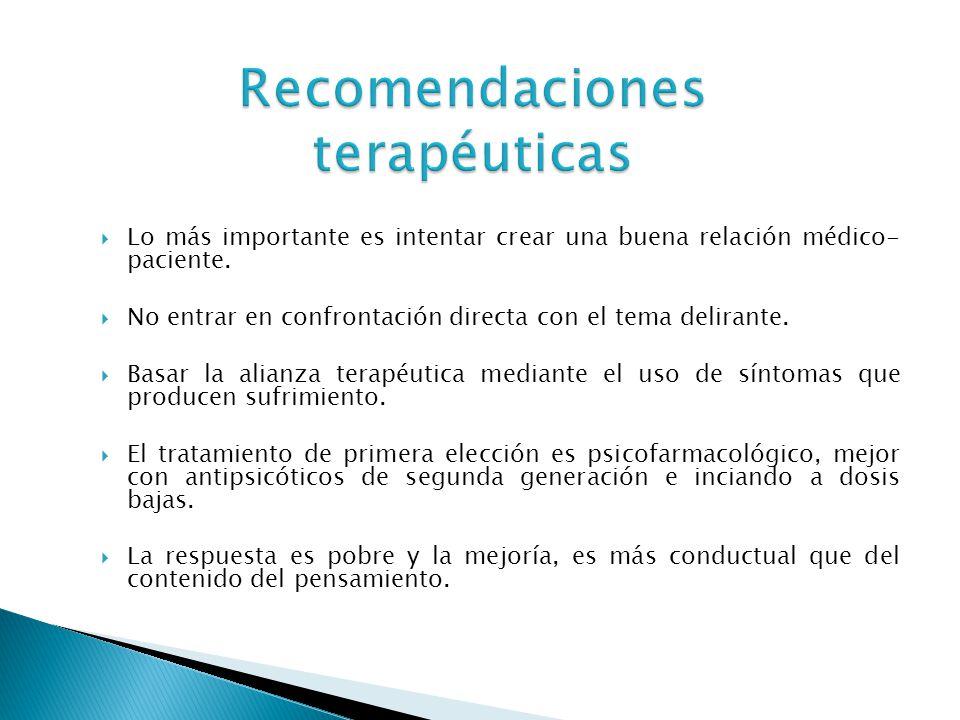 Recomendaciones terapéuticas