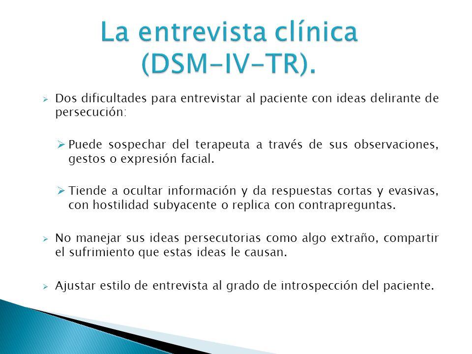 La entrevista clínica (DSM-IV-TR).