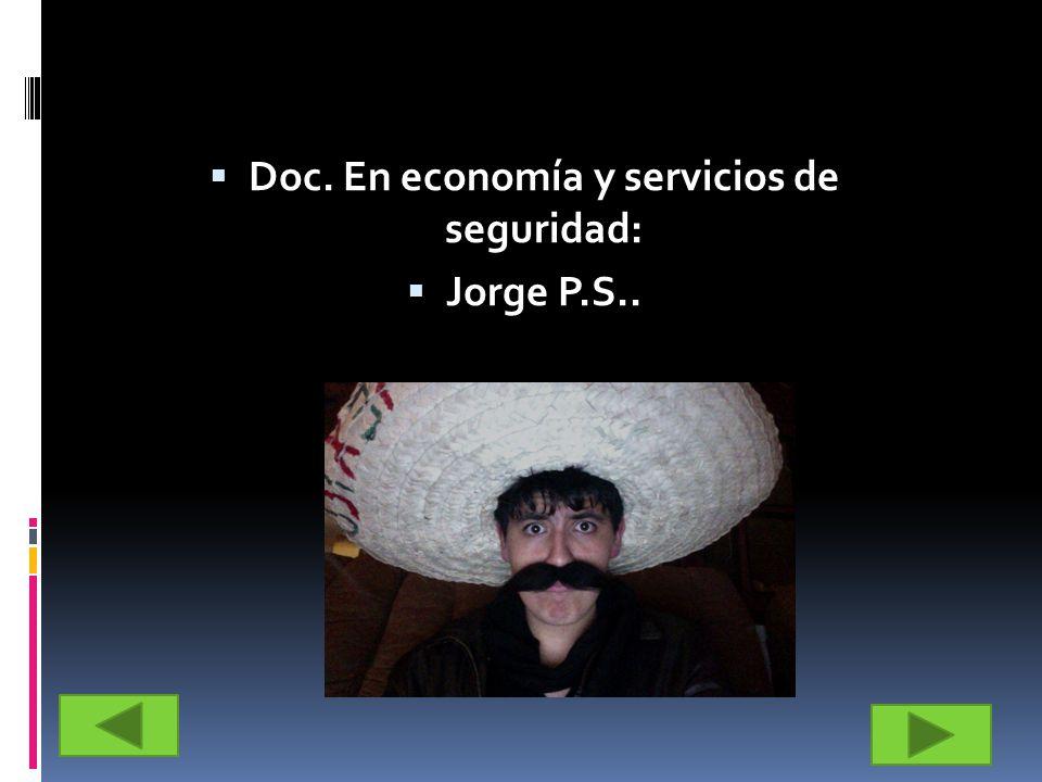 Doc. En economía y servicios de seguridad: