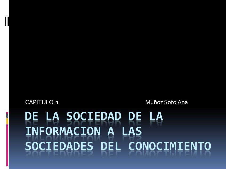 DE LA SOCIEDAD DE LA INFORMACION A LAS SOCIEDADES DEL CONOCIMIENTO