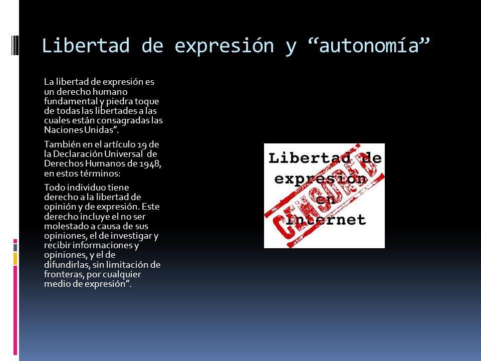 Libertad de expresión y autonomía