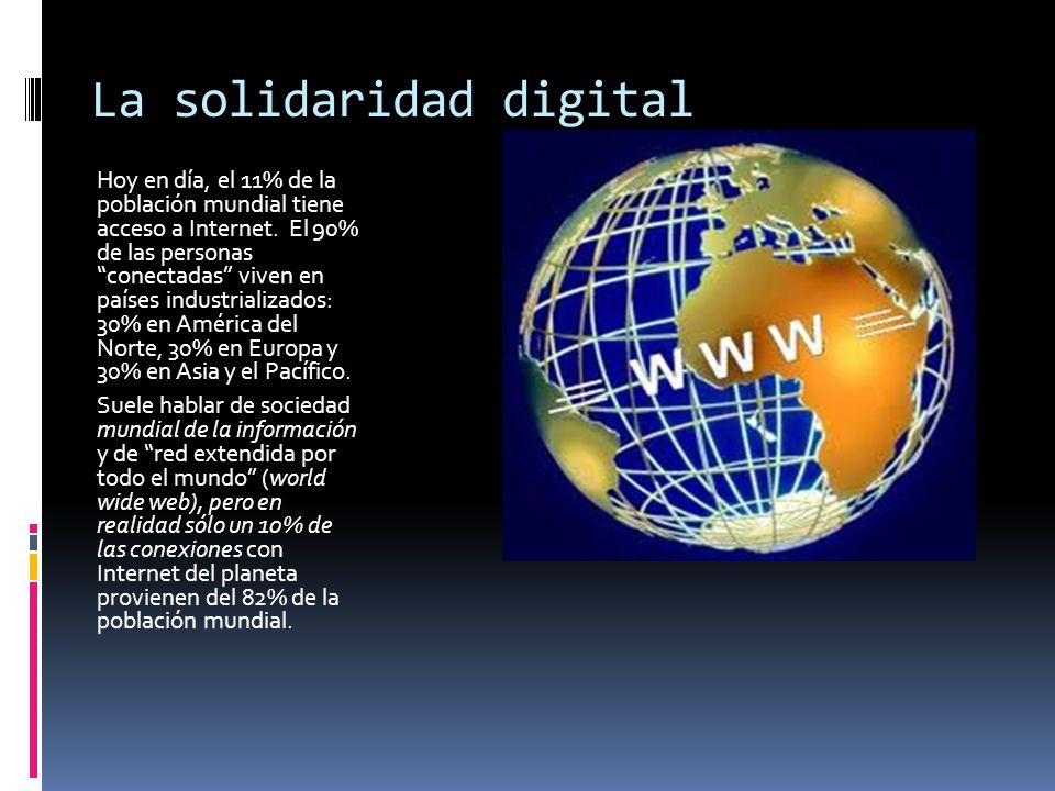 La solidaridad digital