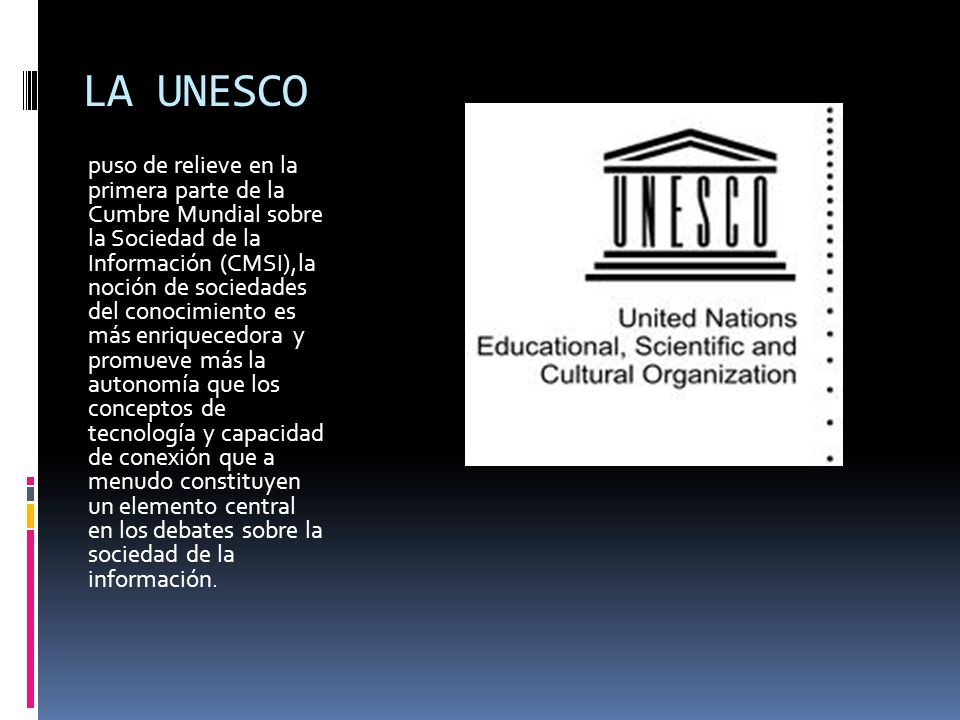 LA UNESCO