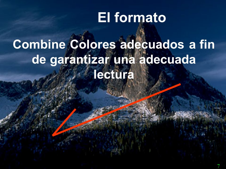 Combine Colores adecuados a fin de garantizar una adecuada lectura
