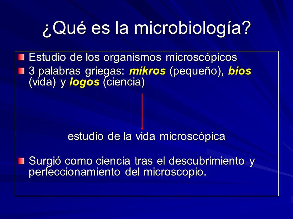 ¿Qué es la microbiología