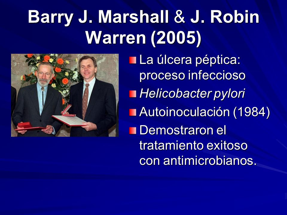 Barry J. Marshall & J. Robin Warren (2005)