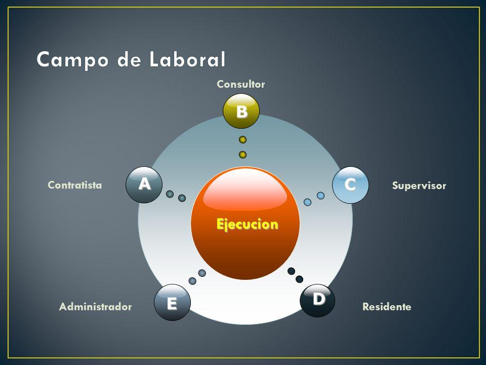 Campo de Laboral B A C Ejecucion D E Contratista Consultor Supervisor