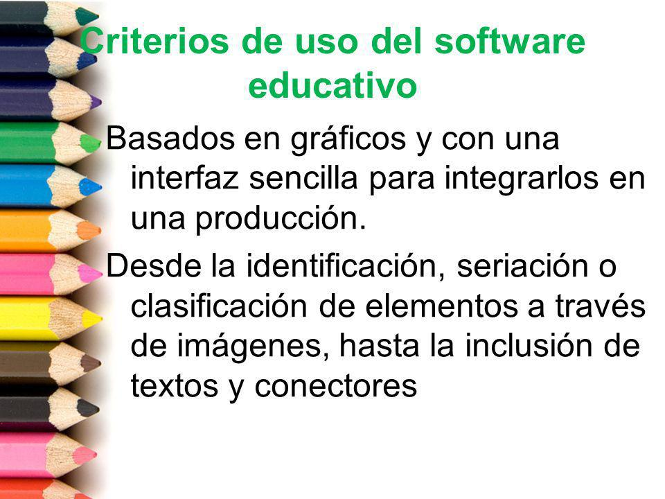 Criterios de uso del software educativo