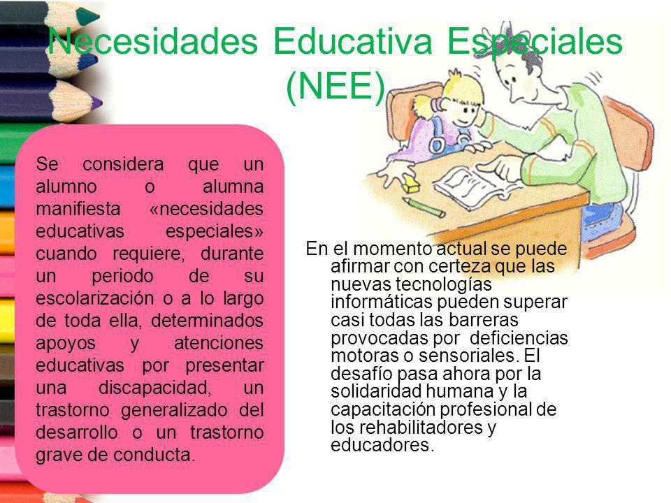 Necesidades Educativa Especiales (NEE)