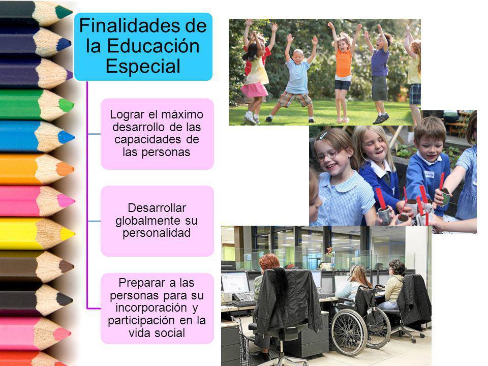 Finalidades de la Educación Especial