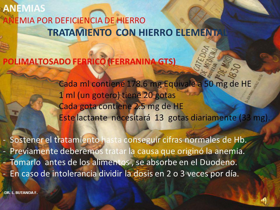 TRATAMIENTO CON HIERRO ELEMENTAL