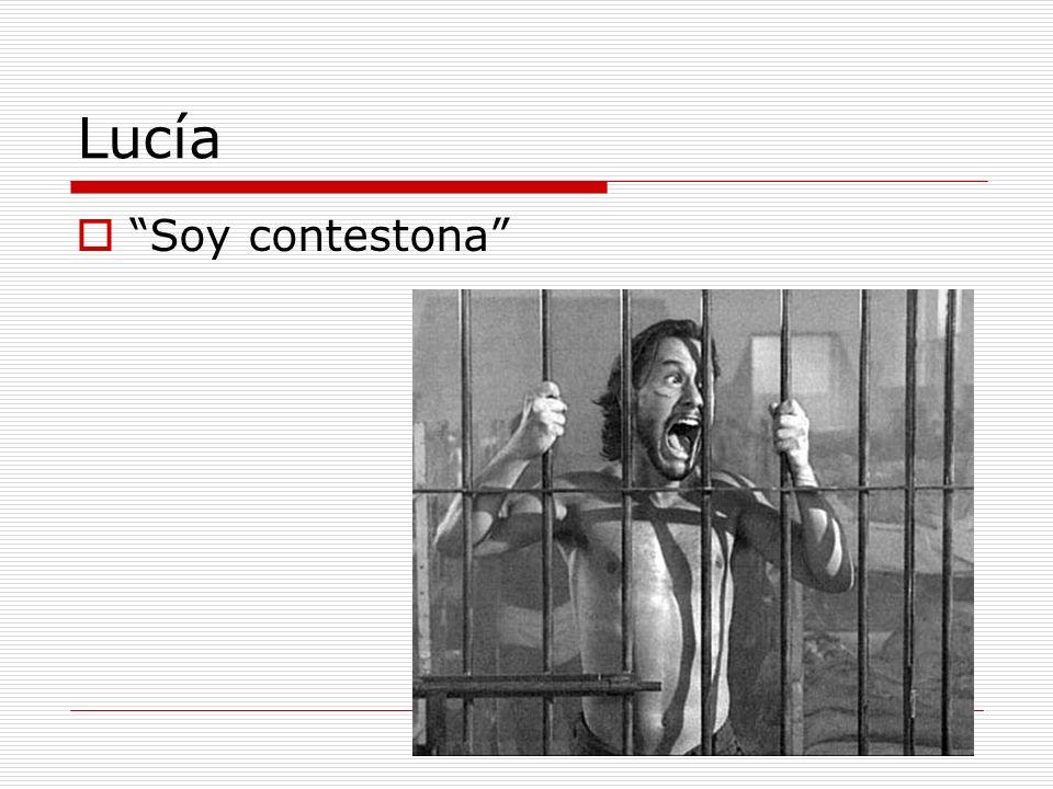 Lucía Soy contestona