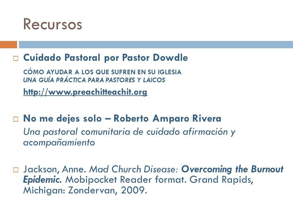 Recursos Cuidado Pastoral por Pastor Dowdle