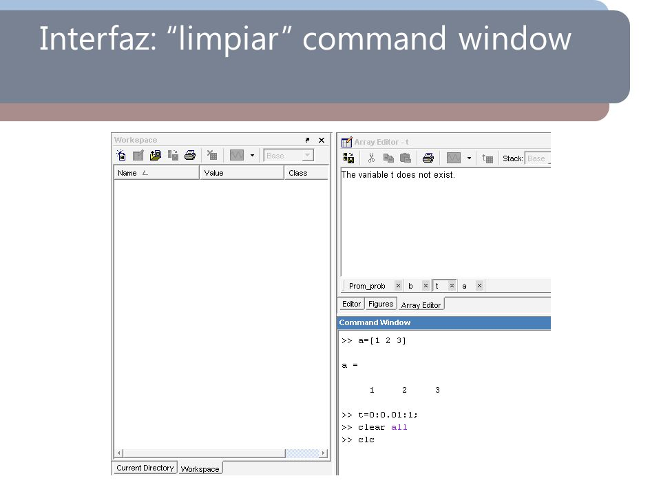 Interfaz: limpiar command window
