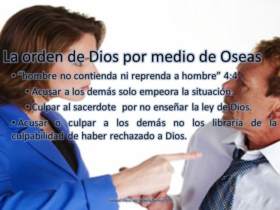 La orden de Dios por medio de Oseas