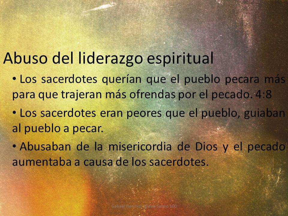 Abuso del liderazgo espiritual