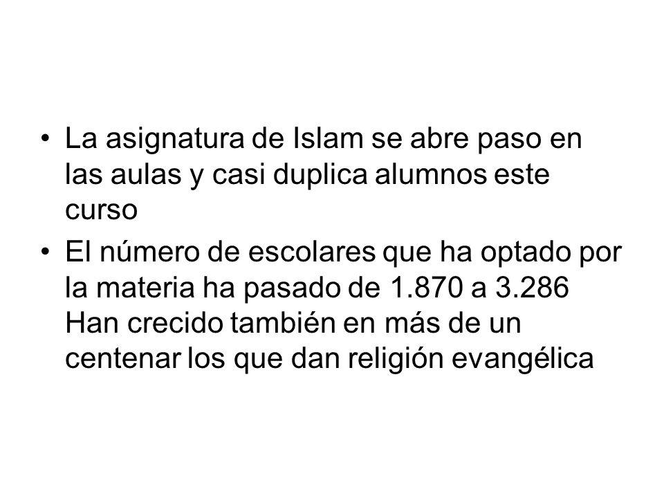 La asignatura de Islam se abre paso en las aulas y casi duplica alumnos este curso