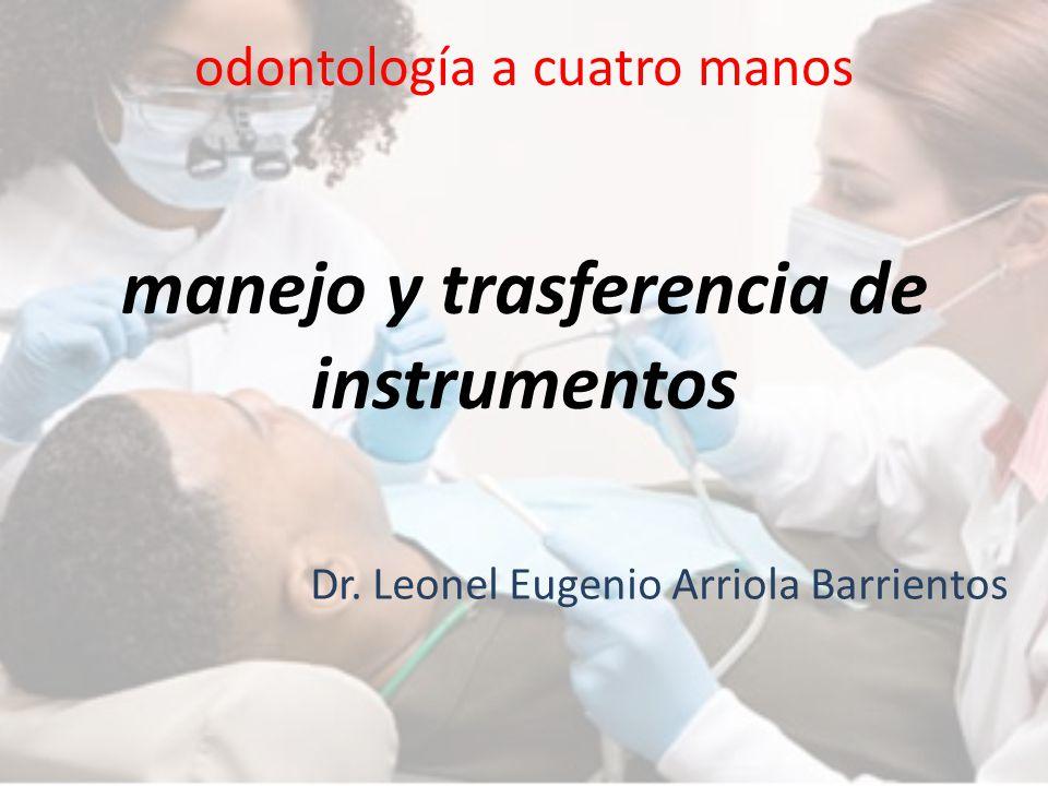 odontología a cuatro manos manejo y trasferencia de instrumentos