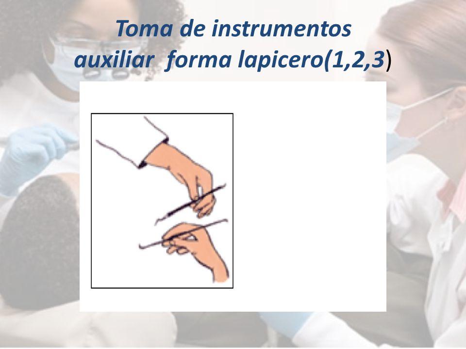 Toma de instrumentos auxiliar forma lapicero(1,2,3)