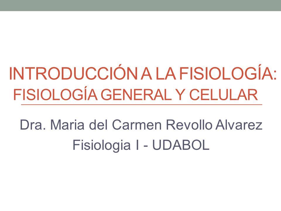 Introducción a la fisiología: fisiología general y celular - ppt ...