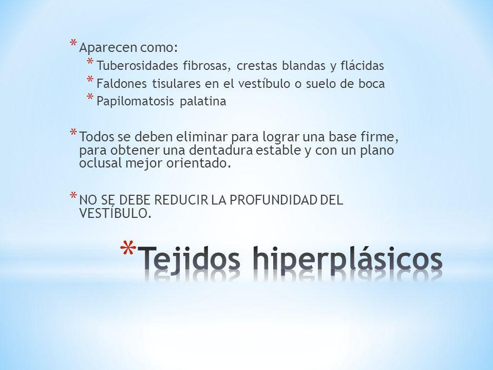 Tejidos hiperplásicos