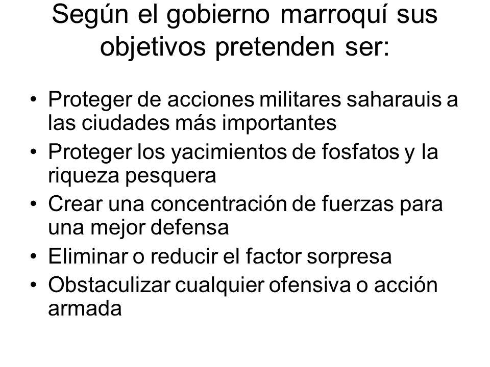 Según el gobierno marroquí sus objetivos pretenden ser: