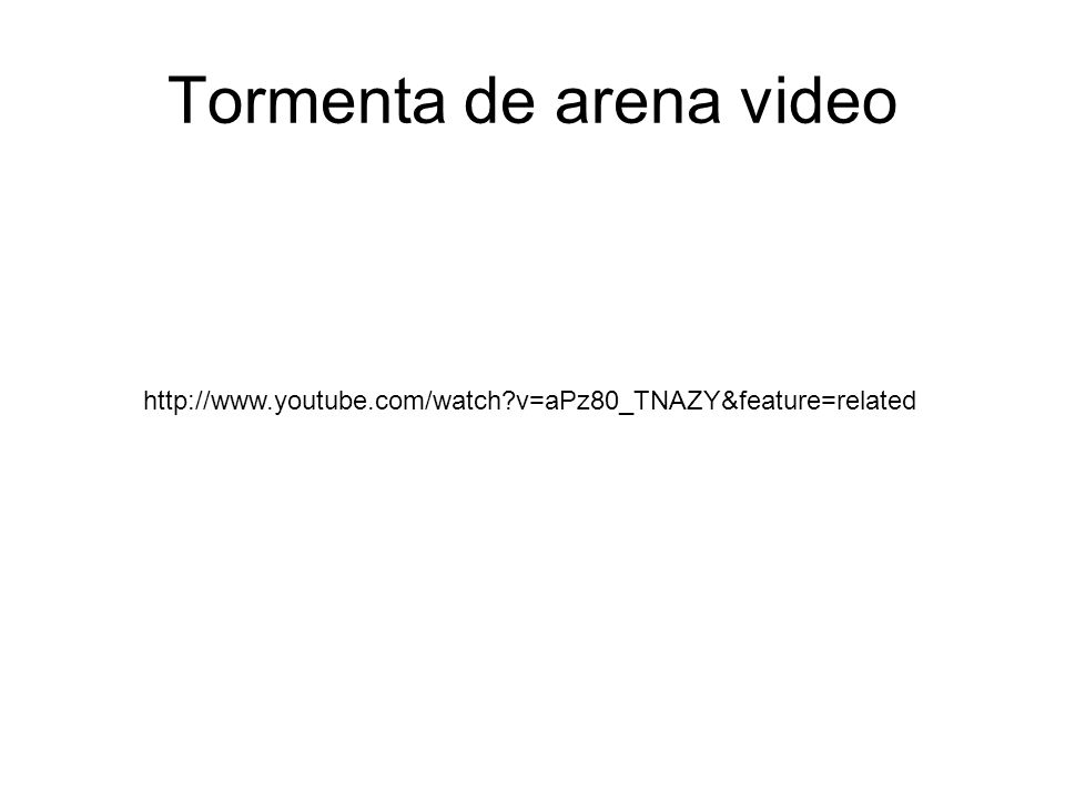 Tormenta de arena video