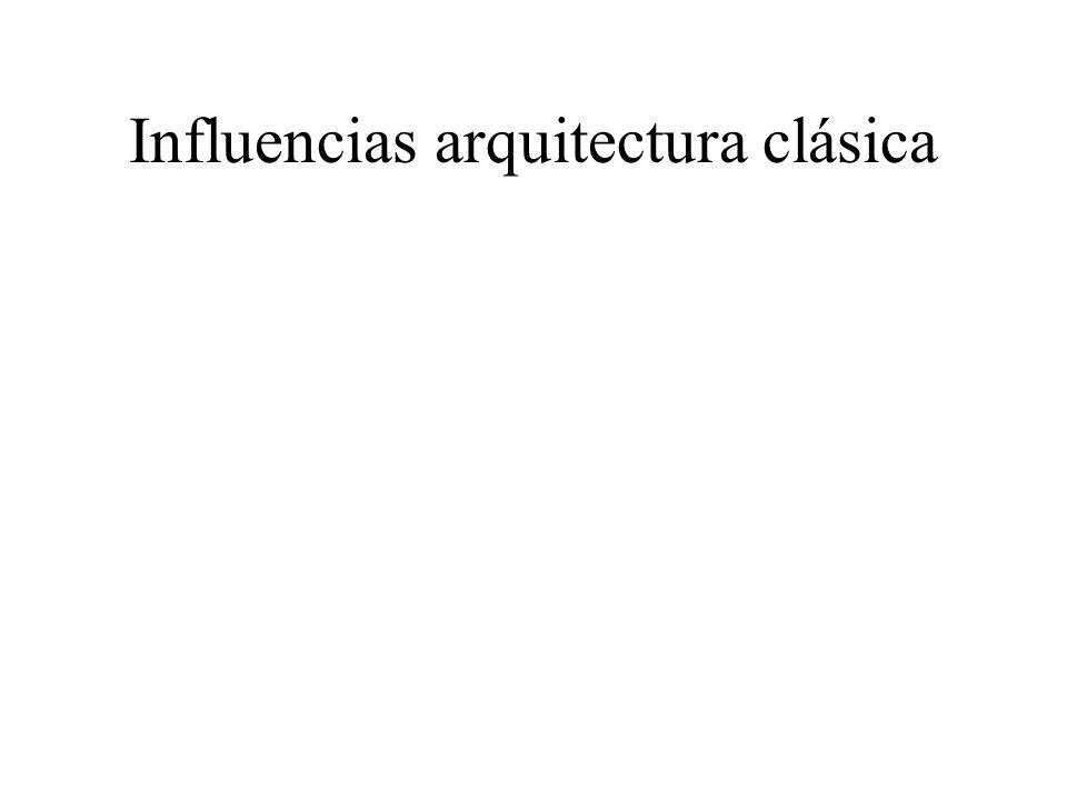 Influencias arquitectura clásica