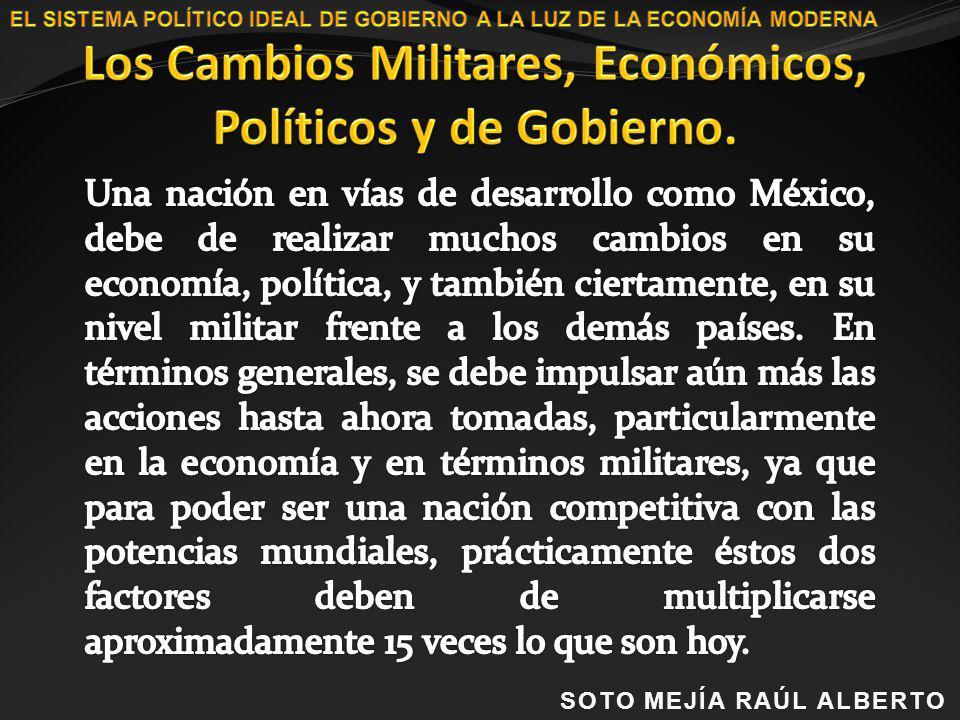 Los Cambios Militares, Económicos, Políticos y de Gobierno.