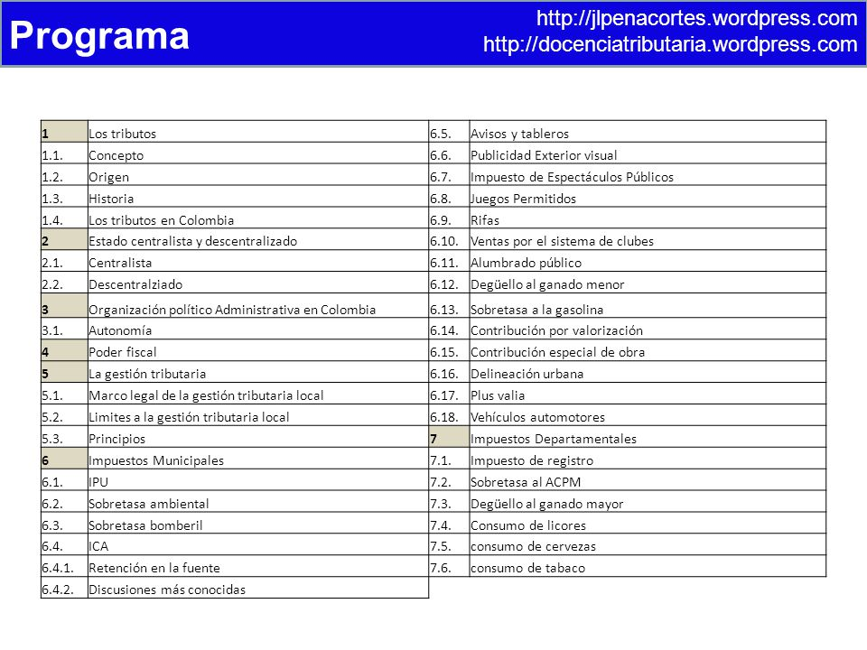 Programa http://jlpenacortes.wordpress.com