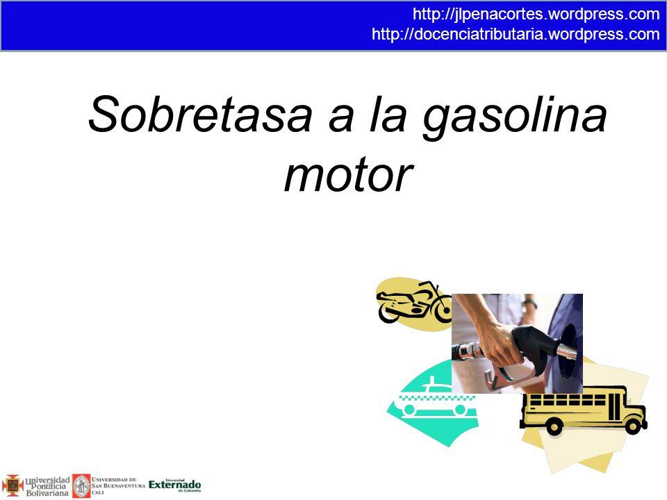 Sobretasa a la gasolina motor