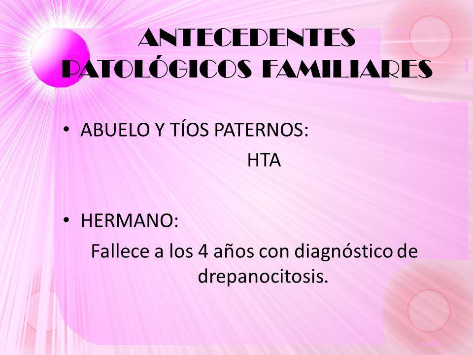 ANTECEDENTES PATOLÓGICOS FAMILIARES